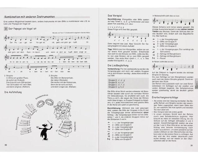 Moderner Musikunterricht mit Boomwhackers - Beispielseiten 30 und 31