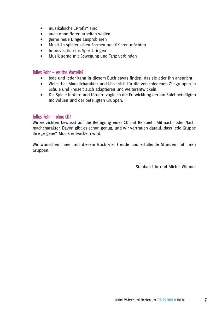 Tolles Rohr - Kreative Spiele mit Boomwhackers - Beispielseite 7