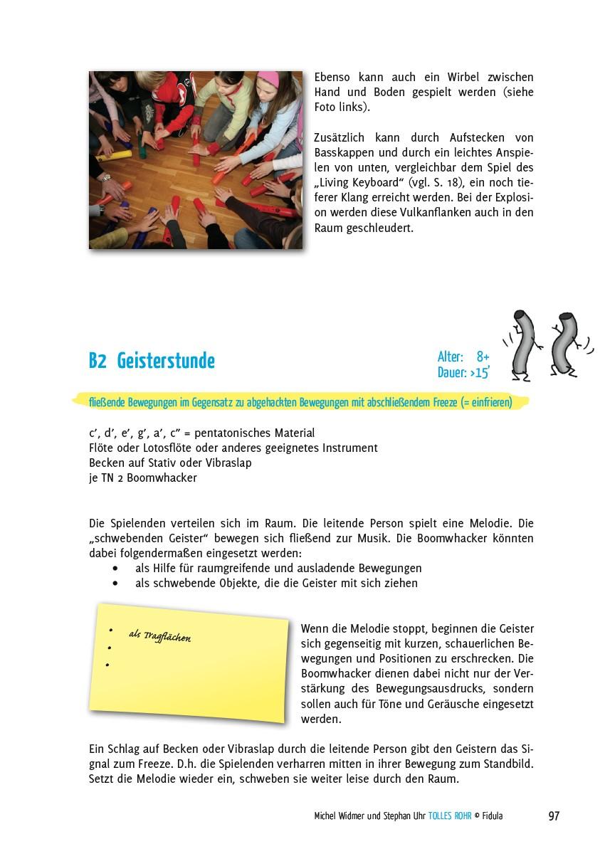 Tolles Rohr - Kreative Spiele mit Boomwhackers - Beispielseite 97