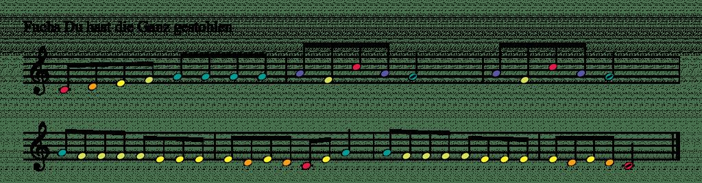 2 einfache Kinderlieder für Boomwhackers in C-Dur 10